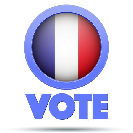 elect: Circle Symbol of Election 2017 in France. Illustration