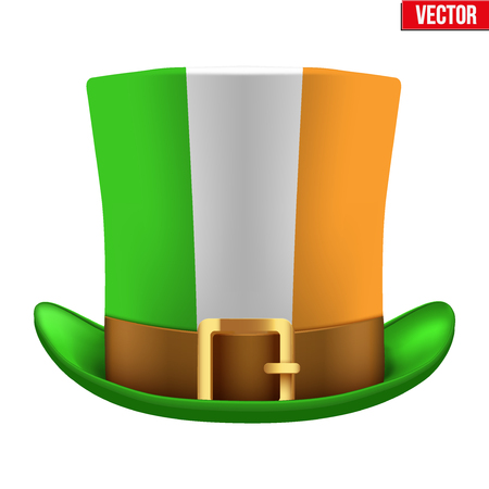St Patrick hat isolated on white background Illustration