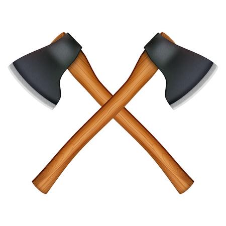 lumberjack axes Reklamní fotografie