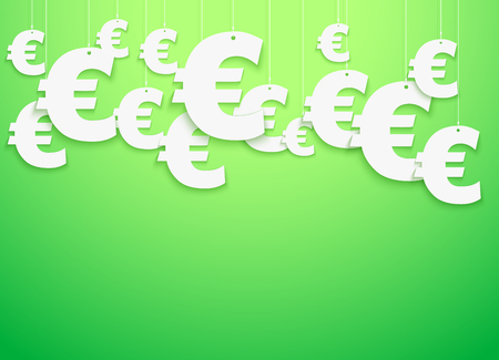 Hung symbols Euro.  Illustration. Stok Fotoğraf