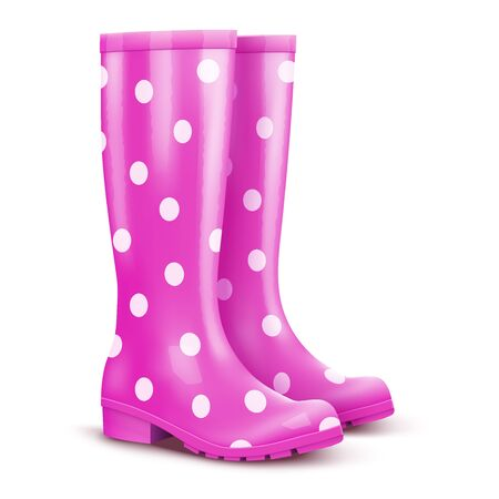 Pair of pink rain boots