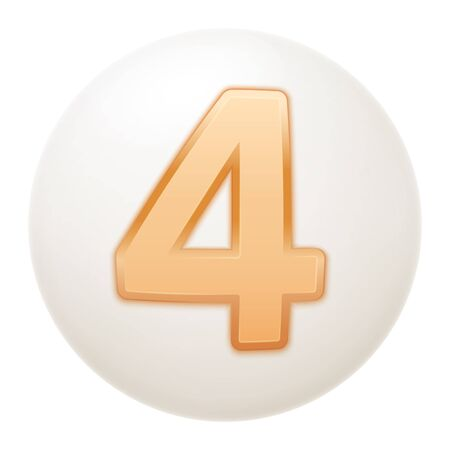 Full collection of icons balls with number 4.