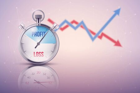Background of stopwatch for forex trader. Stock Photo