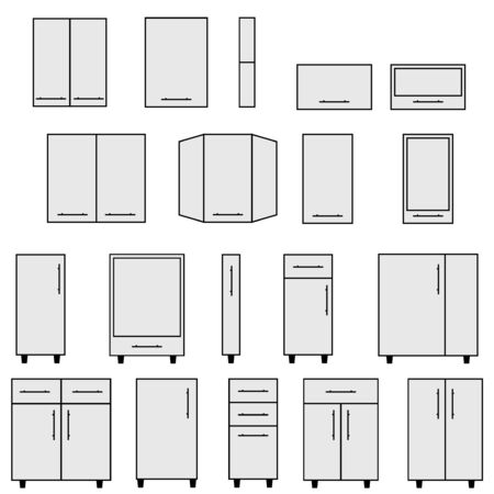 modular home: Sample of Modular kitchen objects.