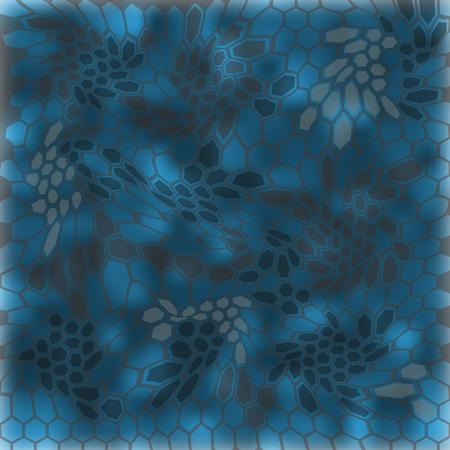 Modern Creative Kryptek neptune Camouflage patterns. Vector Illustration.  イラスト・ベクター素材