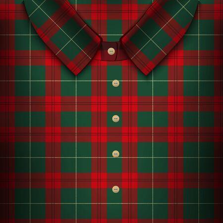 british culture: Folded Plaid Shirt Illustration