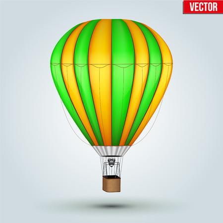 Realistic Hot Air Balloon Illustration