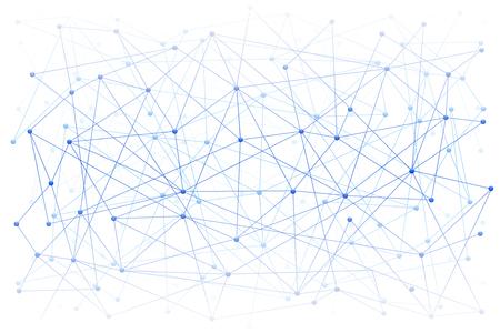 Abstracte digitale achtergrond van wetenschap of blockchain. Moleculen of blokken zijn verbonden. Vector illustratie. Vector Illustratie