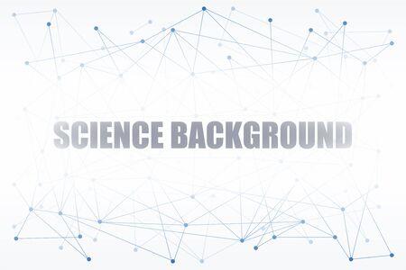 Abstrait numérique de la science ou Blockchain. Les molécules ou les blocs sont connectés. Illustration vectorielle Banque d'images - 89410345
