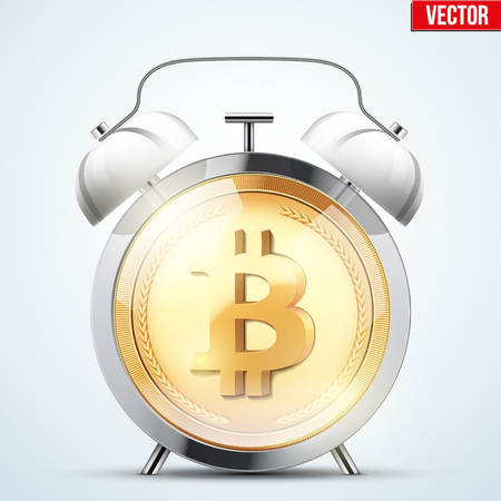 Bitcoin icon. Illustration