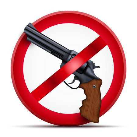 No gun symbol vector icon.