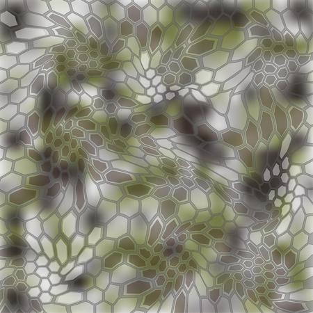 Modern Creative Kryptek Altitude Camouflage patterns. Vector Illustration.  イラスト・ベクター素材