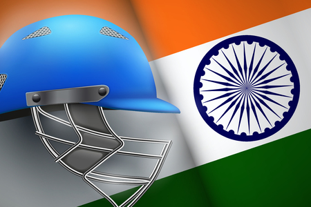 Poster of sports Cricket with India Flag