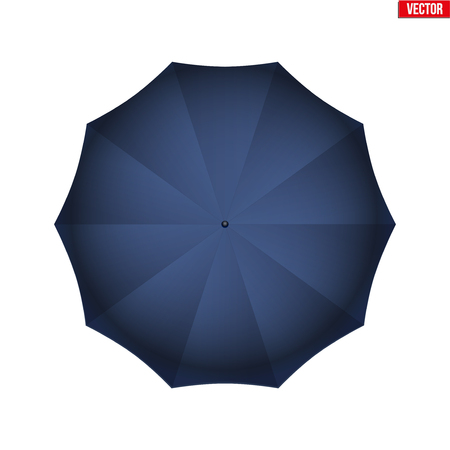 Mary Poppins umbrella on a white background. Symbol of nanny and babysitter.