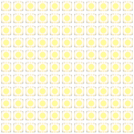 Set of typical LED switch ON seamless pattern. Vector Illustration isolated on white background Standard-Bild - 126146445
