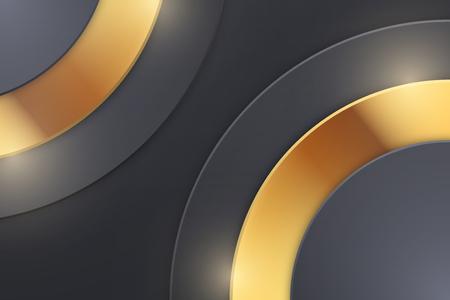 Background Unusual modern material design. Dark luxury style. Abstract Vector Illustration. Standard-Bild - 125984775