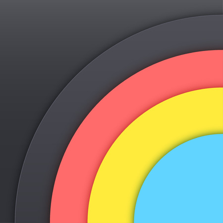 Background Unusual modern material design. Dark circle style. Abstract Vector Illustration. Standard-Bild - 125984778