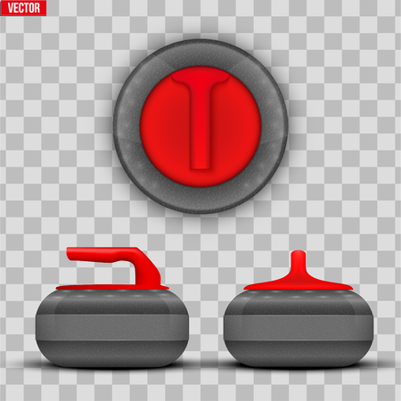 Background Curling stones. Equipment for teams sport game. Vector Illustration isolated on transparent background. Illustration