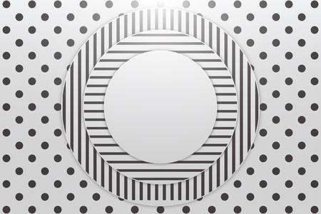 Abstract Neo Memphis Background. Modern design shapes cover. Black and white color. Vector Illustration Standard-Bild - 125506410