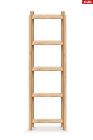 Wooden Rack storage stand. Sample Furniture Home and Warehouse Interior element. Vector Illustration isolated on white background Standard-Bild - 127621721