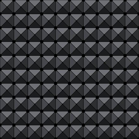 Futuristic cyberpunk texture. Abstract seamless geometric pattern. Cyberspace 3d effect background. Vector Illustration. Standard-Bild - 129228762