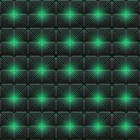Futuristic cyberpunk texture. Abstract seamless geometric pattern. Cyberspace 3d effect background. Vector Illustration. Standard-Bild - 129228777