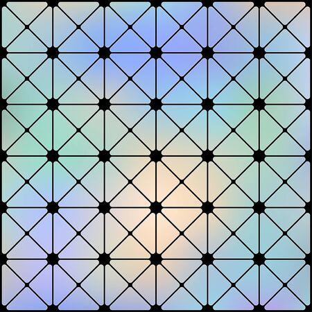 Vintage Futuristic cyberpunk texture. Abstract Cyberpunk seamless geometric pattern. Cyberspace 3d effect background. Vector Illustration. Standard-Bild - 129228782