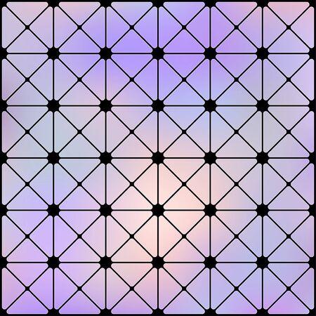 Vintage Futuristic cyberpunk texture. Abstract Cyberpunk seamless geometric pattern. Cyberspace 3d effect background. Vector Illustration. Standard-Bild - 129228977
