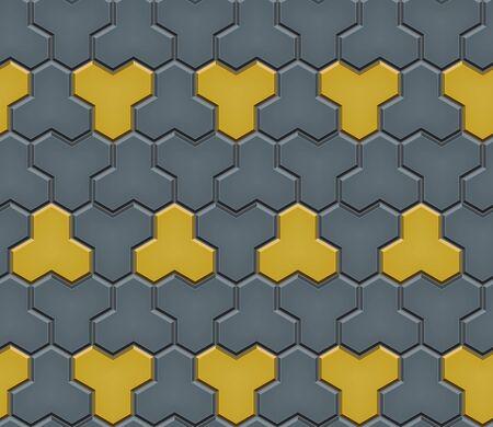 Modello senza cuciture delle finitrici in ciottoli piastrellati. Piastrelle stradali a mosaico geometrico. Colore rosso e grigio. Blocco lastricatore di lastre per pavimentazione. Illustrazione vettoriale modificabile