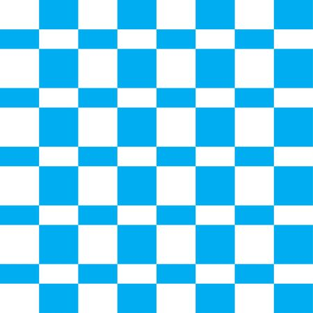 Checkered seamless pattern. Modern funny texture. Blue color. Vector Illustration.