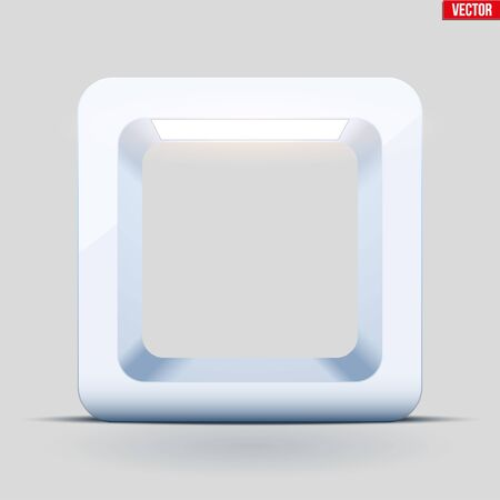 Light box with spotlight. White cube for product presentation. Softbox for object shooting. Vector Illustration Ilustracja