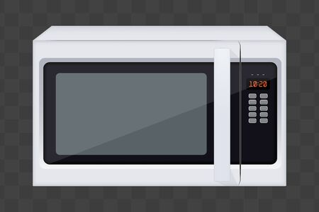 Original Classic Microwave Oven. Sample model for Electronic Kitchen appliance. Vector Illustration isolated on transparent background. Vector Illustratie