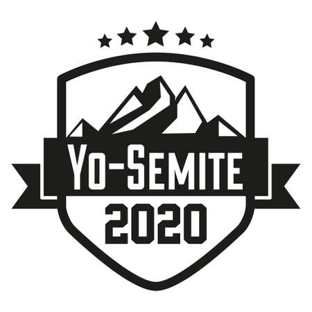 Yo Semite badge symbol. Sign for your label and stickers.
