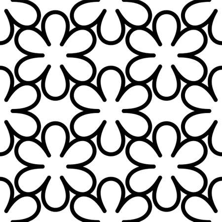 Circular flower decorative seamless patterns. It can be used for laser cutting and carving. Cutout Digital Stencils. Vector illustration isolated on white background. Vettoriali