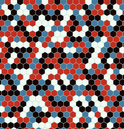 Hexagon Urban Camouflage seamless patterns. Leaf cyber camo. Vector Illustration. Illusztráció