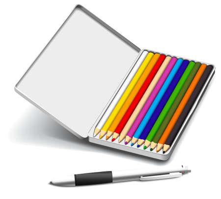 pencil case: Set of creativity tools