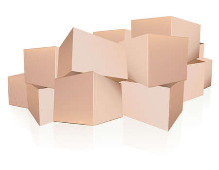 Boxes heap Stock Vector - 11592981