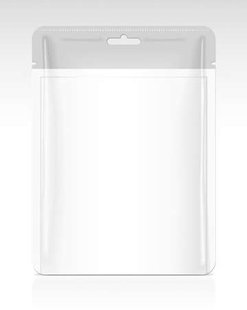 plastic box: Packaging template Illustration