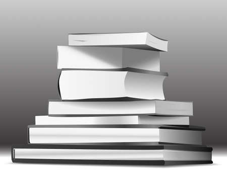 desaturated: Stack of books