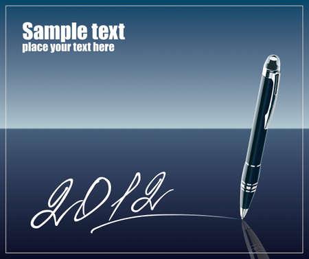 New 2012 year pen Illustration