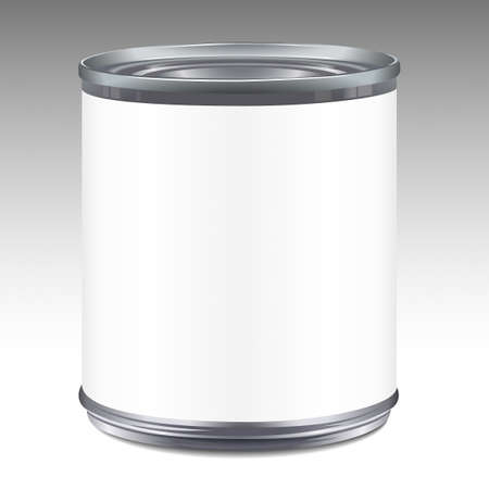 Tin can template Vector