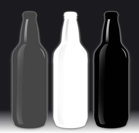 Set of beer bottles Illustration