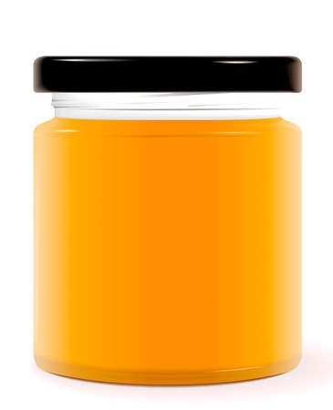 mermelada: Tarro de plantilla