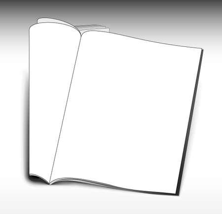 magazine template: Opened magazine template