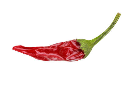 Chipotle or red hot chili pepper isolated on white background