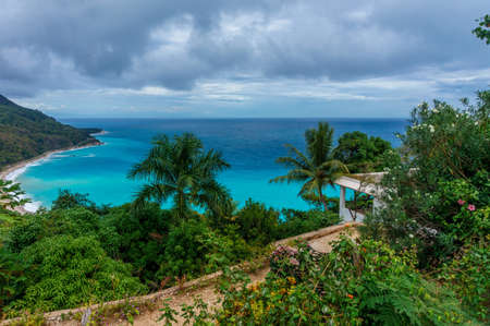 amazing Caribbean tropical landscape, Dominican Republic Banco de Imagens