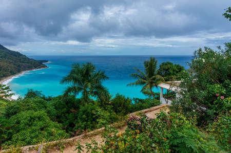 erstaunliche karibische tropische Landschaft, Dominikanische Republik Standard-Bild