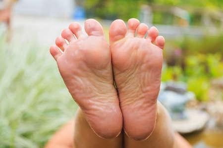 Female bare soles