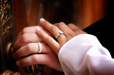 a close up shot of wedding rings Stock Photo - 6106982