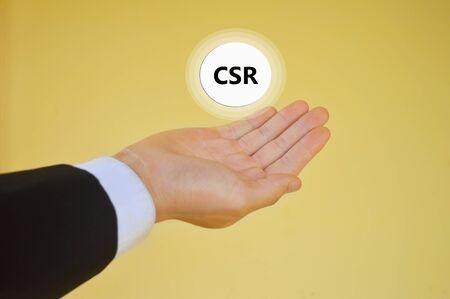 corporate social: Corporate social responsibility (CSR) concept